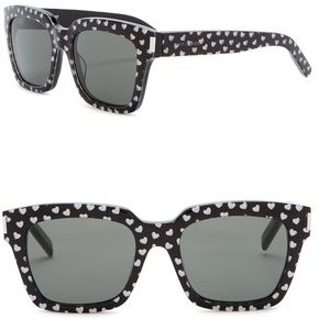 Saint Laurent glitter heart print 54mm sunglasses